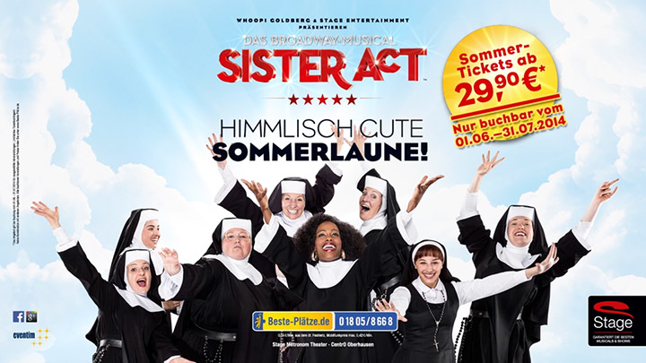 City Light Poster für das Stage Entertainment Musical SISTER ACT in Oberhausen